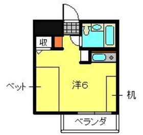 菊名センチュリー213階Fの間取り画像