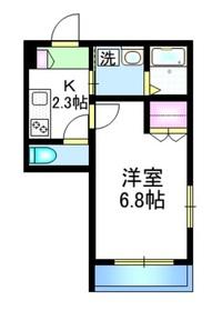 メゾンローレル2階Fの間取り画像