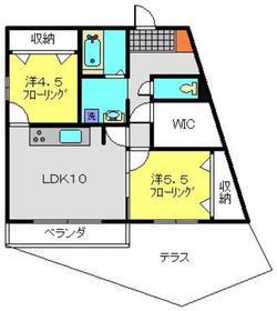 リンクス北寺尾1階Fの間取り画像