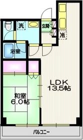 カーサ三田4階Fの間取り画像
