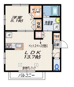 リンデンハイム ペット共生3階Fの間取り画像