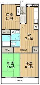 ベルデュール湘南太平台2階Fの間取り画像