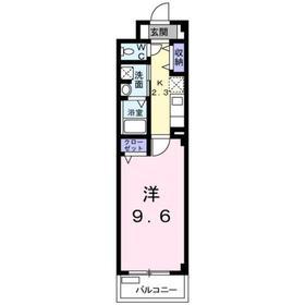 アーバン1階Fの間取り画像