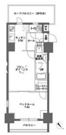 神田駅 徒歩9分8階Fの間取り画像