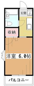 コーポ・ヒルマ2階Fの間取り画像