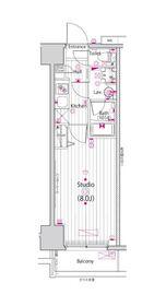 ガーラ新横浜グランドステージ11階Fの間取り画像