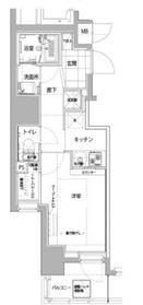 ハーモニーレジデンス横浜大通り公園8階Fの間取り画像