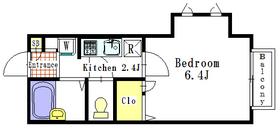 CASA HIGUCHI2階Fの間取り画像