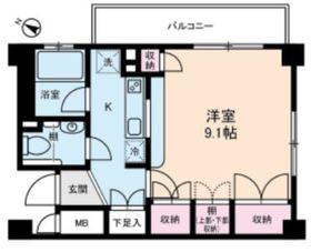 ルビナス・ウエストパレス5階Fの間取り画像