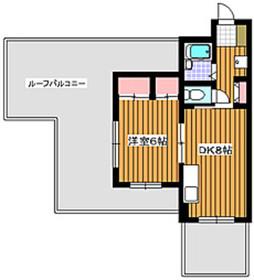 成増駅 徒歩8分7階Fの間取り画像