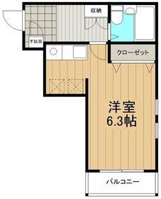 湘南テラスⅡ4階Fの間取り画像