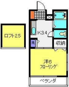 ブルーマロー鎌谷2階Fの間取り画像