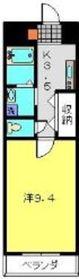 横浜元町ガーデン161階Fの間取り画像