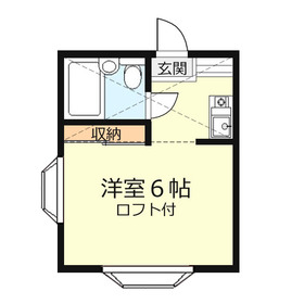 コーポ鶴ケ舞1階Fの間取り画像