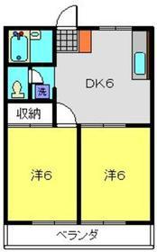 小机ハイツ3階Fの間取り画像