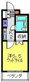 セザール第二鶴間4階Fの間取り画像