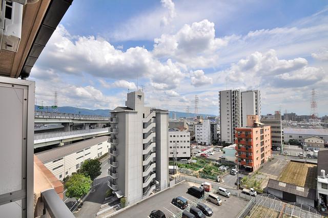 ロータリーマンション長田東 この見晴らしが日当たりのイイお部屋を作ってます。