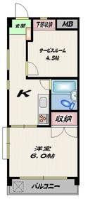 ステージ仙台坂A棟2階Fの間取り画像