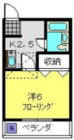 ハイツK61階Fの間取り画像