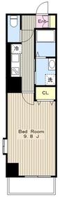 タウンコートS6階Fの間取り画像