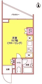京王多摩川駅 徒歩2分3階Fの間取り画像