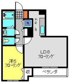 エトワールⅡ2階Fの間取り画像