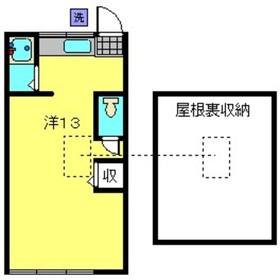 第2小菅荘2階Fの間取り画像