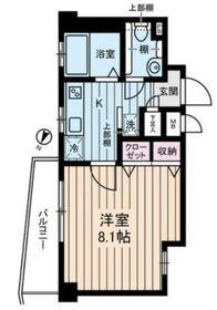 ルビナス・ウエストパレス2階Fの間取り画像