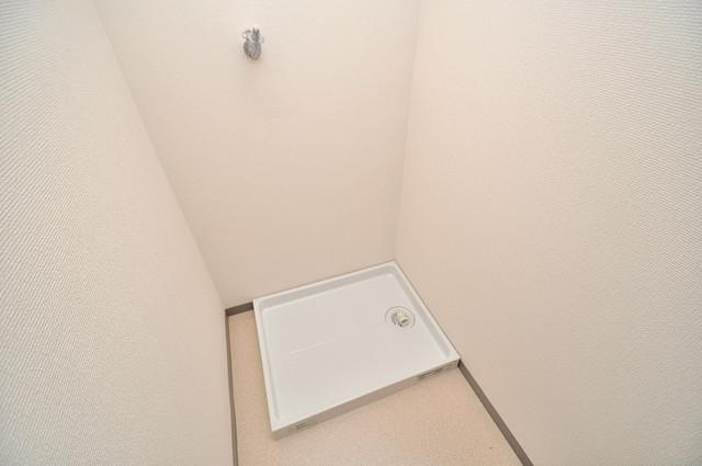 アバ・ハイム西村 室内洗濯機置場だと終了音が聞こえて干し忘れを防げますね。