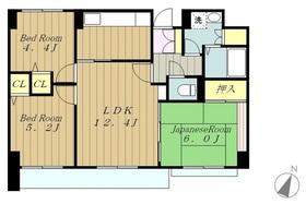 カーラホーチカタノ3階Fの間取り画像