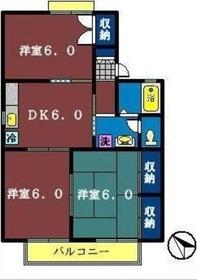 ビューテラス2階Fの間取り画像