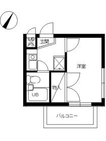 スカイコート矢部23階Fの間取り画像