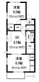 SKヒルズⅠ2階Fの間取り画像