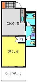 シルクガーデニア1階Fの間取り画像