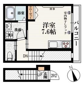 Terrasse Miura2階Fの間取り画像