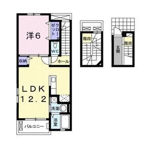 ラテル元町3階Fの間取り画像