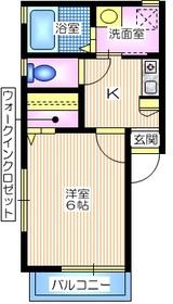パークサイドダイスB2階Fの間取り画像