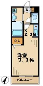 コモドプレッソ4階Fの間取り画像