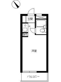 スカイコート尾山台2階Fの間取り画像