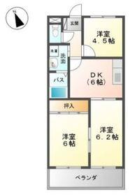 グレースタウン Ⅱ2階Fの間取り画像