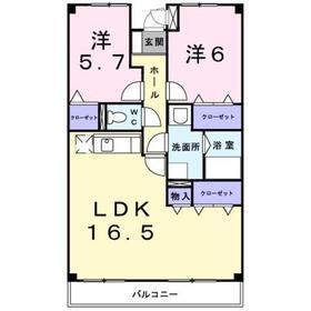 倉見駅 徒歩18分3階Fの間取り画像