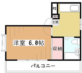 サザンウイング2階Fの間取り画像