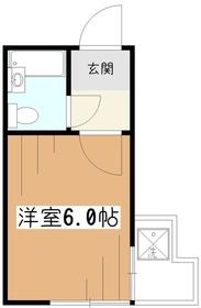 すいーと久米川2階Fの間取り画像