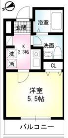 山手ビューハイム1階Fの間取り画像