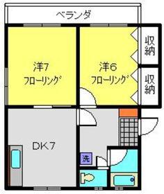 平井コーポラス3階Fの間取り画像