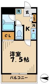 フェンテ多摩2階Fの間取り画像