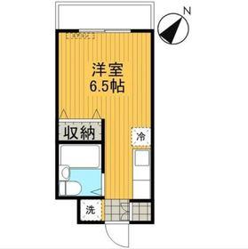 リバーハイムⅡ3階Fの間取り画像