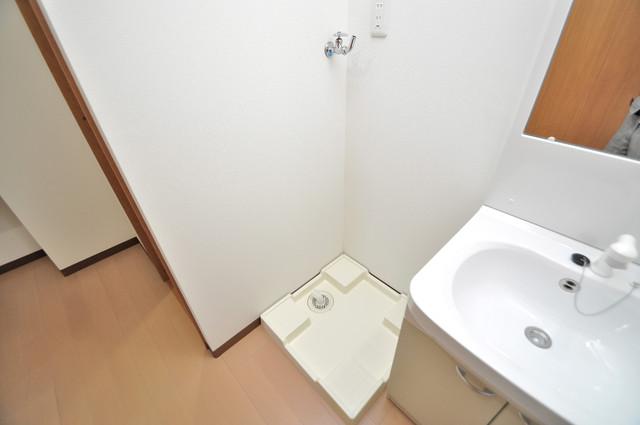 レクラン小路東 洗濯機置場が室内にあると本当に助かりますよね。