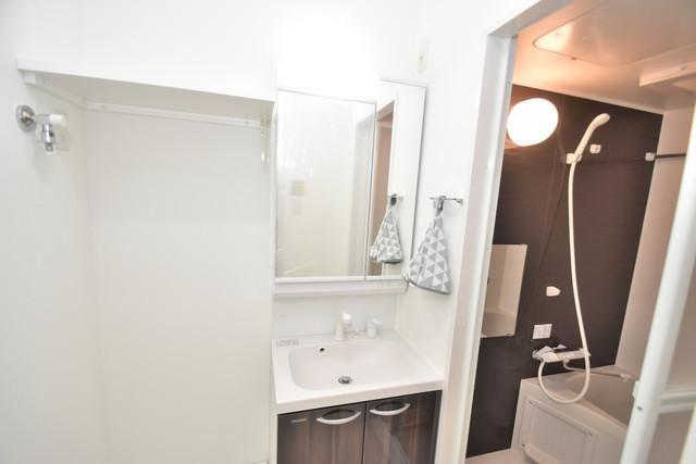 メルベージュ布施 独立した洗面所には洗濯機置場もあり、脱衣場も広めです。
