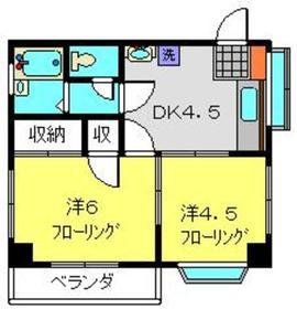 ハイツカツキ3階Fの間取り画像